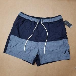 Nautica Navy Quick Dry Swim Trunk Men's Size M